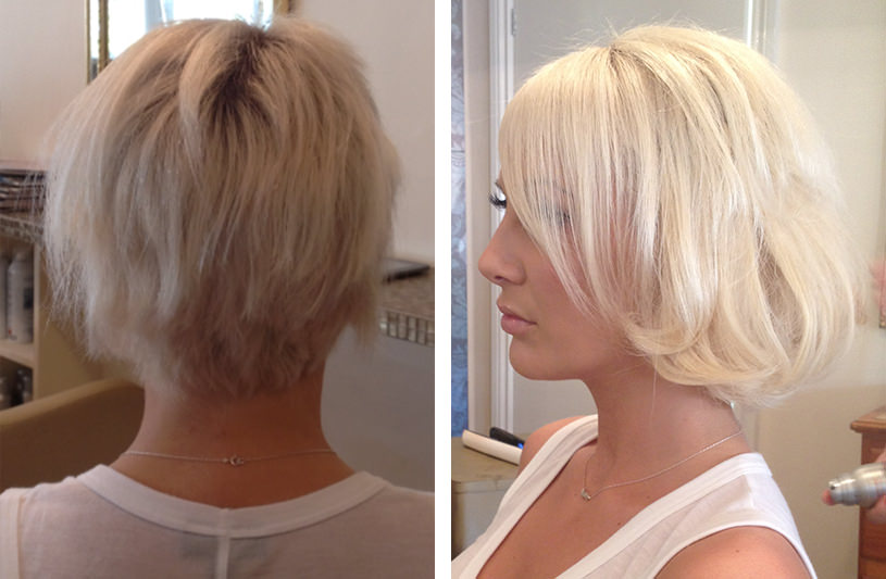 Micro ring extensions for short hair